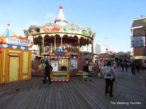 Carnival type entertainment/rides at Pier 39 in San Francisco