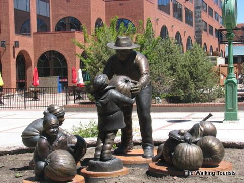 Nick Venetucci, AKA, the Pumpkin Man sculpture in Colorado Springs