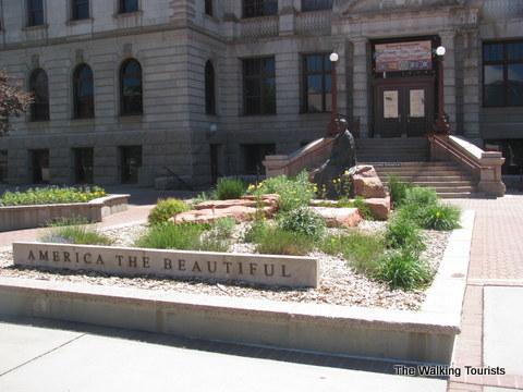 Bates' monument in Colorado Springs