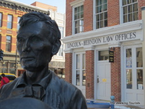 Spending the day following the footsteps of President Lincoln in Springfield