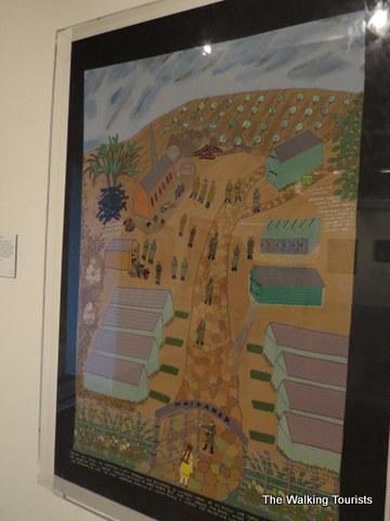 Fabric of Survival panels at Kaneko