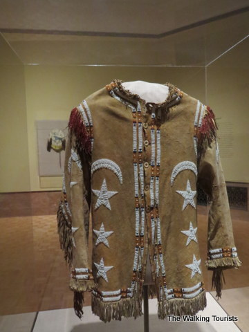 Omaha tribal shirt at Joslyn art museum