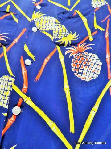 Hawaiian shirt w/pineapples at Kaneko