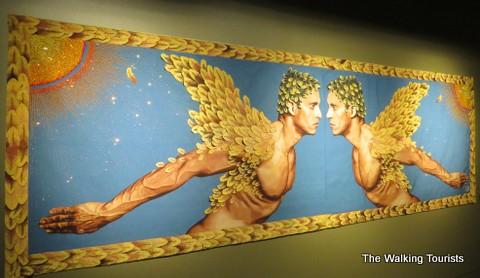 Woven tapestry at Kaneko