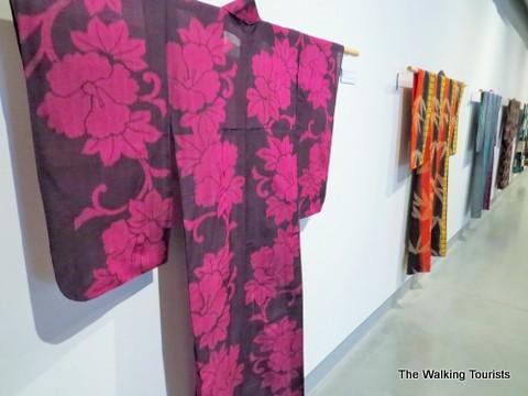 Kimonos on display at Kaneko