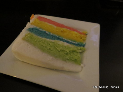 Rainbow cake at The Chocolate Bar in Grand Island