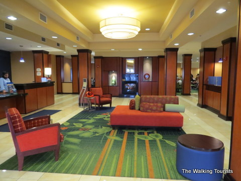 Welcoming lobby area at the Fairfield Inn and Suites in Grand Island