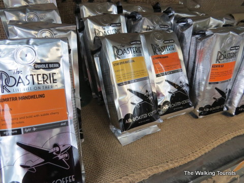 Bagged, sealed and ready for delivery - The Roasterie coffee