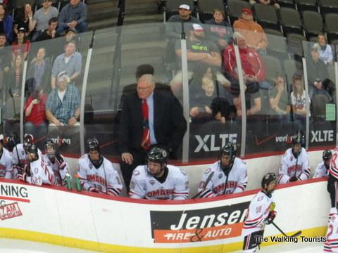 Dean Blais and UNO Hockey bench