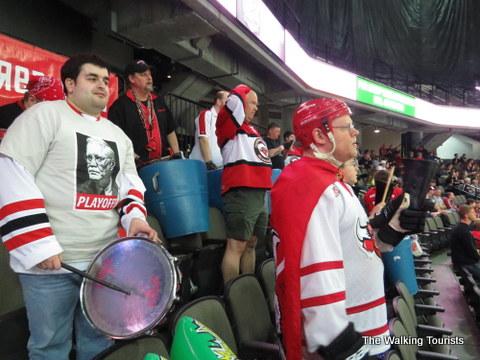 The Red Army at UNO Mavericks Hockey games