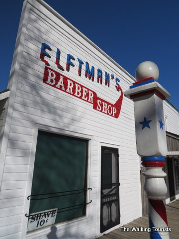 Barber Shop in Railroad Town