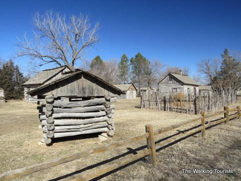 Series of log cabins near Railroad Town