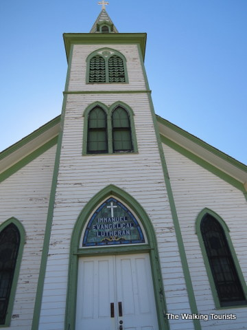 An old church at Stuhr museum of the Prairie Pioneer