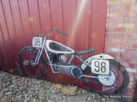 Small motorcycle museum at Fred's Flying Circus in Grand Island