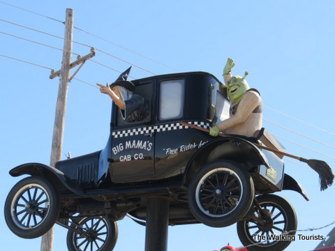Shrek in a Taxi at Fred's Flying Circus