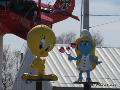 Tweety Bird and Smurfette at Fred's Flying Circus in Grand Island