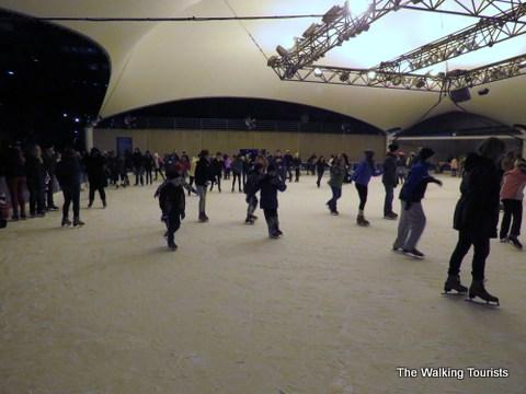 Skating rink during winter season at Crown Center Mall