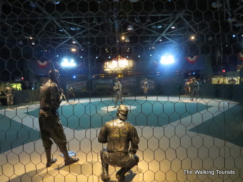 Baseball field mock up at Negro League Baseball Museum in Kansas City