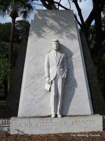 Memorial to Kennedy on the University of Tampa downtown