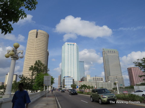 Skyscrapers in Tampa downtown