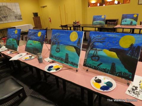 Vino van Gogh paints a fun evening
