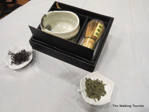Mixing matcha tea at the tea smith on the Omaha Caffeine Crawl