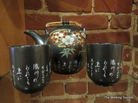 Nice teapot set at the tea smith on the  Omaha Caffeine Crawl