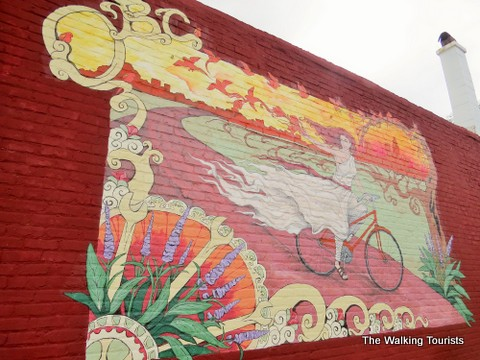 Mural outside the Bicycle Co. on the Omaha Caffeine Crawl