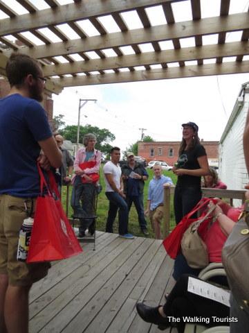 Sarah Johnson talks about community and her shop Omaha Bicycle Co. on the Omaha Caffeine Crawl