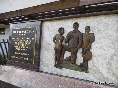 Monument honoring Freddie Solomon in Ybor City