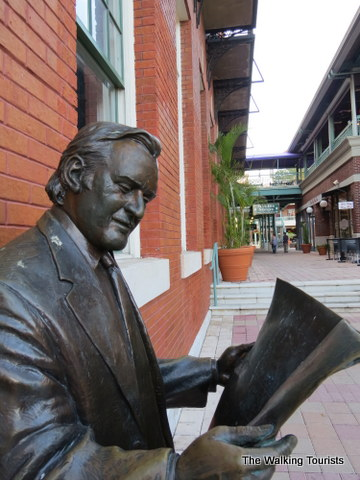 """Anthony """"Tony"""" Pizzo statue in park in Ybor City"""