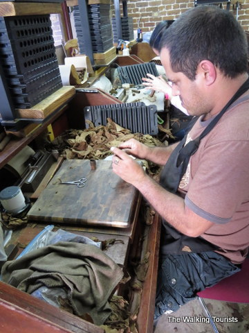 Cigar makers in Ybor City area of Tampa, Florida