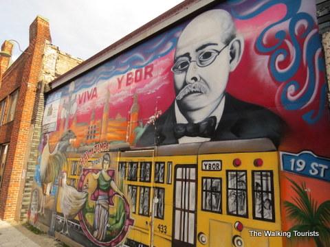Mural in Ybor City area of Tampa, Florida