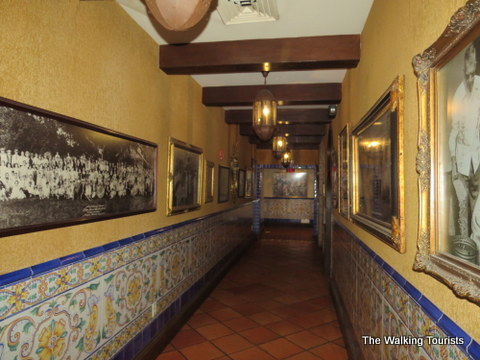 Hallways decorated with old photos at Columbia Restaurant
