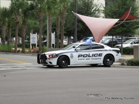 Streets blocked off for filming in Tampa downtown