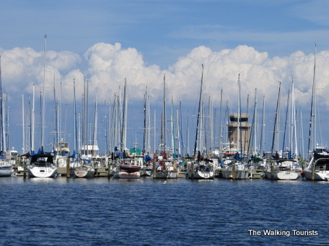 Boats at the marina in St. Petersburg, Florida