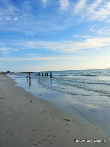Walking on the sand at Clearwater Beach