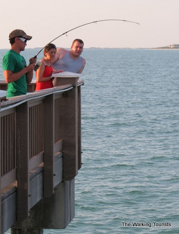 Clearwater beach offers visitors beautiful views of for Clearwater fishing pier