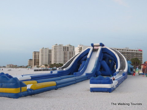 Inflatable slides at Clearwater Beach