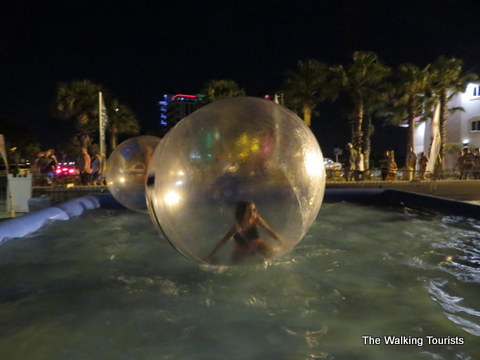Zorbing at Clearwater Beach