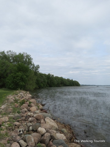 View of Clear Lake at McIntosh Woods State Park in Clear Lake, IA