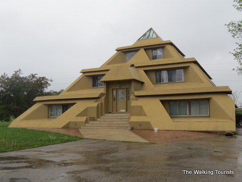 The Pyramid House in Clear Lake, IA