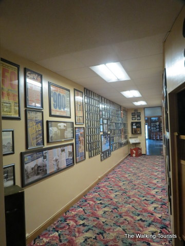 Wayne's World is a hallway with many artists picture mostly with Wayne also in them at the Surf Ballroom in Clear Lake, IA