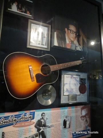 Rock legend memorabilia at Surf Ballroom in Clear Lake, IA