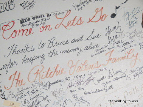 Signatures in the Green Room at the Surf Ballroom in Clear Lake, IA