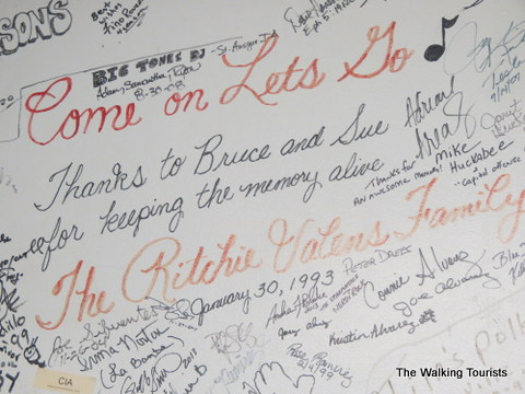 Signatures from the family of the gone too soon stars at Surf Ballroom in Clear Lake, IA