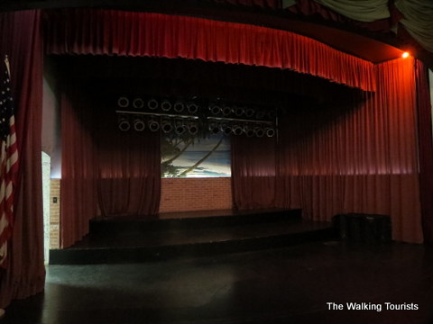 The Surf Ballroom stage in Clear Lake, IA