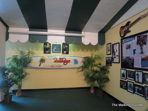 Surfboard signed by the Beach Boys at Surf Ballroom in Clear Lake, IA