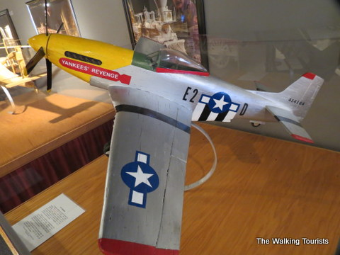 Fighter jet made out of matchsticks at Matchstick Marvels in Gladbrook, Iowa