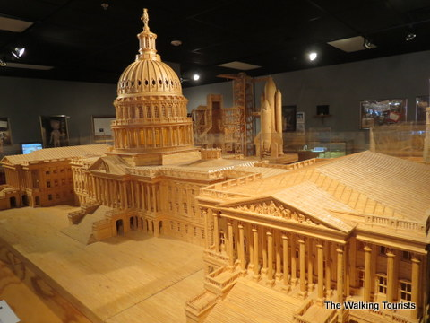 Impressive size structures made out of matchsticks at Matchstick Marvels in Gladbrook, Iowa